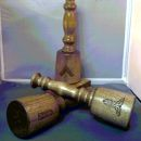Upright Gavel and Sounding Block Set of Three 12
